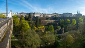 View of Luxembourg historical city center Stock Photos