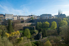 View of Luxembourg historical city center Royalty Free Stock Photo