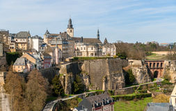 View of Luxembourg old town Stock Photos
