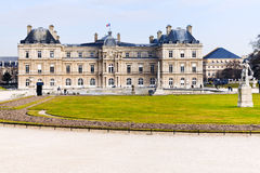 View of Luxembourg Palace and Gardens in Paris Stock Photography