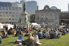 A view of Luxembourg Square in Brussels Royalty Free Stock Image