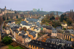 View of Luxembourg. View of a valley in Luxembourg stock images