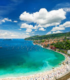 View of luxury resort and bay of Cote d'Azur Royalty Free Stock Image