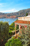 View of luxury resort and bay of Cote d'Azur Royalty Free Stock Photos