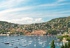 View of luxury resort. French riviera, Mediterranean Sea Royalty Free Stock Images