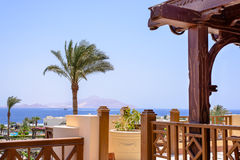 View from a luxury seaside resort Stock Images