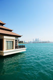 The view from luxury villa on Palm Jumeirah Royalty Free Stock Photography