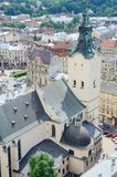 View of Lviv Archcathedral Basilica,WesternUkraine Royalty Free Stock Photo