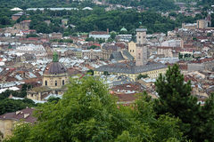 View of Lviv from Castle Hill, Ukraine Royalty Free Stock Photography