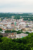 View of Lviv old city Royalty Free Stock Image
