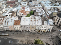 View of Lviv royalty free stock image