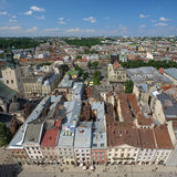 View of Lviv from the tower of Lviv City Hall Stock Photo
