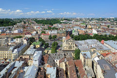 View of Lviv from the tower of Lviv City Hall, Ukraine Stock Photography