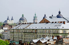 View Lvov city from height Stock Image