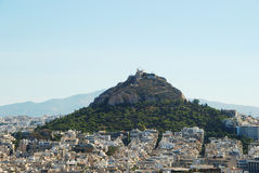 View of Lycabettus hill Stock Image