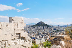 View of Lycabettus Mount in Athens city Royalty Free Stock Photos