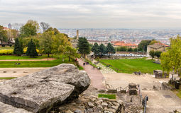 View of Lyon from Archaeological Site of Fourviere Royalty Free Stock Photography