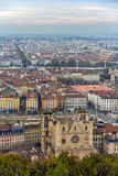View of Lyon from Fourviere hill - France Stock Photography