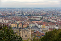 View of Lyon from Fourviere hill - France Royalty Free Stock Photo