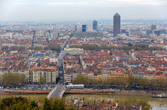 View of Lyon from Fourviere hill, France Royalty Free Stock Photo