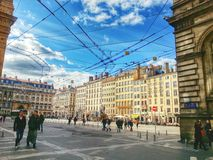 View of the Lyon old town, vieux Lyon, France Royalty Free Stock Photography
