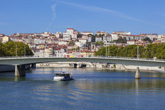 View on Lyon and Saone river Royalty Free Stock Photo