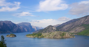 View into Lysefjord 01 Royalty Free Stock Images