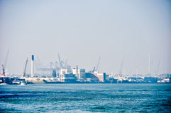 View on Maas river ports of Rotterdam Stock Photography
