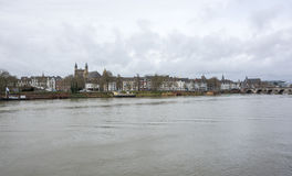 View of Maastricht city centre on the Meuse river Stock Image