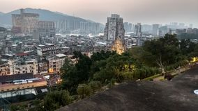 View of Macao city from Macao fortress stock photo