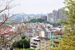 View of Macao city. From Mount Fortress Stock Photo