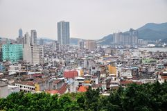 View of Macao city. From Mount Fortress Stock Image