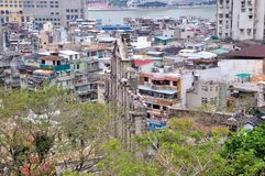 View of Macao city. From Mount Fortress Stock Images