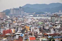 View of Macao city. From Mount Fortress Royalty Free Stock Image