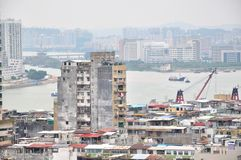 View of Macao. From penha Church Royalty Free Stock Photo
