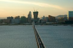 View of Macau city royalty free stock image