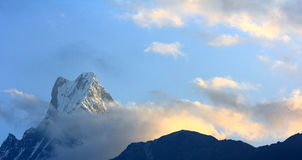 View of the Machapuchare Stock Photography