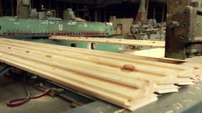 View machine for production of shaped timber stock video footage