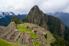 View of the Machu Picchu. View of the  Machu Picchu. A popular tourist attraction and one of the ancient wonders of the world Royalty Free Stock Images