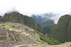 View From Machu Picchu Stock Photos