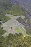View of Machu Picchu from Huayna Peak Royalty Free Stock Photography