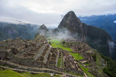 View of Machu Picchu Inca ruins in Peru Royalty Free Stock Photo