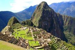 View of Machu Picchu, Peru with Wayna Picchu Royalty Free Stock Image