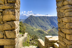 View on Machu Picchu from the sun gate Royalty Free Stock Image