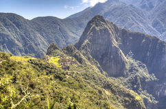 View on Machu Picchu from the sun gate Stock Photo