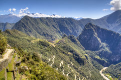 View on Machu Picchu from the sun gate Stock Photos