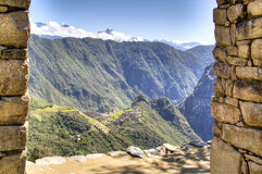 View on Machu Picchu from the sun gate Royalty Free Stock Photos