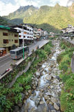 View of Machupicchu or Aguas Calientes Royalty Free Stock Photo