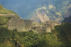 View of Machupicchu from the Putucusi mountain Royalty Free Stock Image