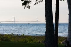 Mackinac Bridge from Afar stock photos